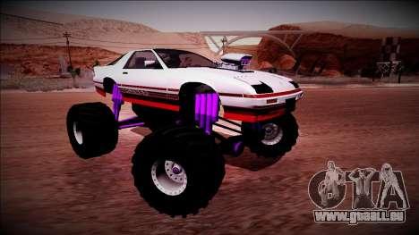 GTA 5 Imponte Ruiner Monster Truck für GTA San Andreas obere Ansicht