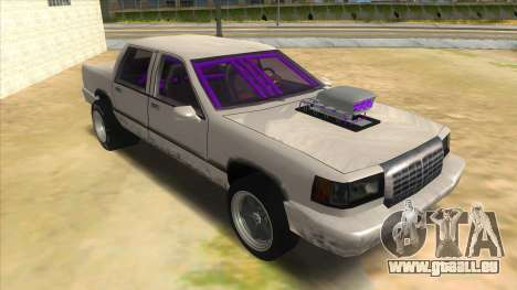 Stretch Sedan Drag pour GTA San Andreas vue arrière