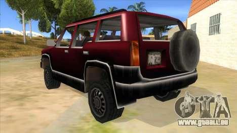GTA III Landstalker für GTA San Andreas zurück linke Ansicht