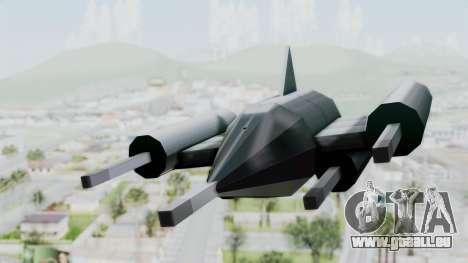 TCFU Spaceship für GTA San Andreas zurück linke Ansicht