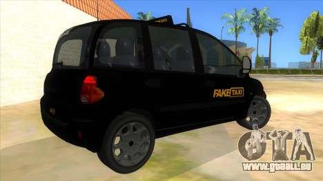 Fiat Multipla FAKETAXI pour GTA San Andreas vue de droite
