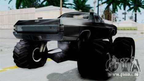 Chevrolet El Camino SS 1970 Monster Truck pour GTA San Andreas laissé vue