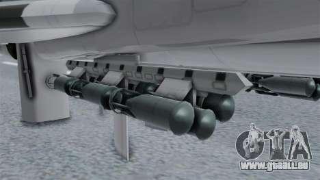 TU-22M3 Gris pour GTA San Andreas vue de droite