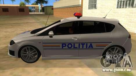 Seat Leon Cupra Romania Police für GTA San Andreas linke Ansicht