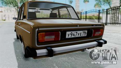 VAZ 2106 für GTA San Andreas obere Ansicht
