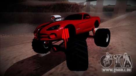 Dodge Viper SRT10 Monster Truck pour GTA San Andreas vue de droite