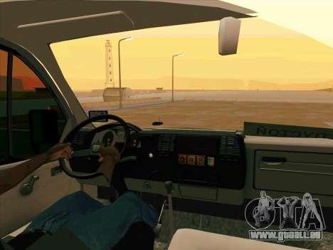 GAZ 33023 NORD pour GTA San Andreas sur la vue arrière gauche
