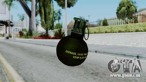 No More Room in Hell - Grenade pour GTA San Andreas deuxième écran