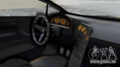 GTA 5 Zentorno Tron für GTA San Andreas rechten Ansicht
