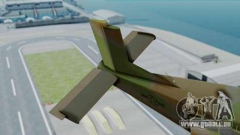 PC-6 USAF Markings pour GTA San Andreas sur la vue arrière gauche