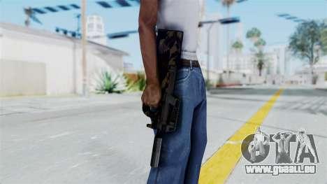 P90 Camo2 pour GTA San Andreas troisième écran