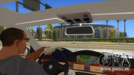 BMW 330XD Romania Police pour GTA San Andreas vue intérieure