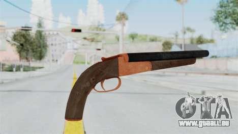 Double Barrel Shotgun Orange Tint (Lowriders CC) pour GTA San Andreas troisième écran