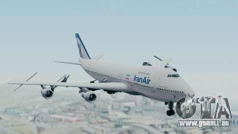 Boeing 747-186B Iran Air für GTA San Andreas zurück linke Ansicht