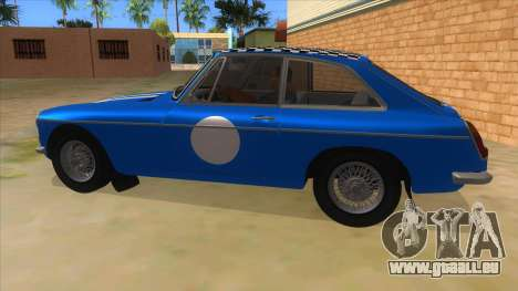 Richard Hammond MGB GT Top Gear für GTA San Andreas linke Ansicht