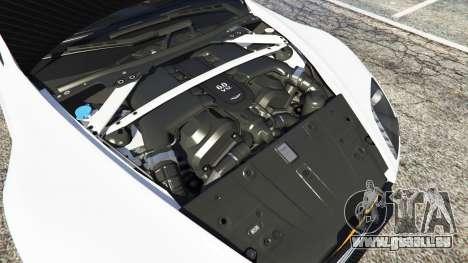 GTA 5 Aston Martin Vantage GT12 2015 arrière droit vue de côté