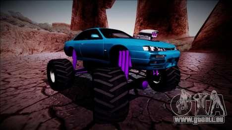 Nissan Silvia S14 Monster Truck für GTA San Andreas Innen