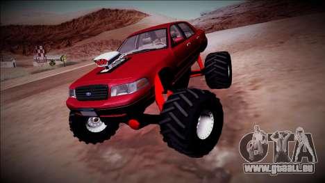2003 Ford Crown Victoria Monster Truck für GTA San Andreas rechten Ansicht