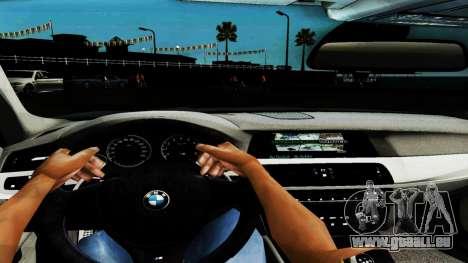 BMW M5 F10 pour GTA San Andreas vue de dessous
