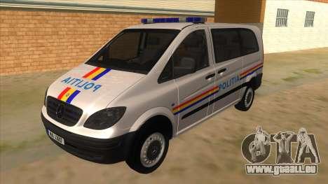 Mercedes Benz Vito Romania Police für GTA San Andreas