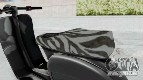 GTA 5 Principe Faggio pour GTA San Andreas sur la vue arrière gauche