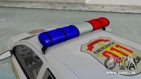 Opel-Vauxhall Astra Policia für GTA San Andreas Rückansicht