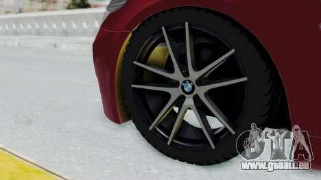 BMW M5 E60 pour GTA San Andreas sur la vue arrière gauche