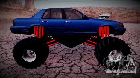 2003 Ford Crown Victoria Monster Truck pour GTA San Andreas roue
