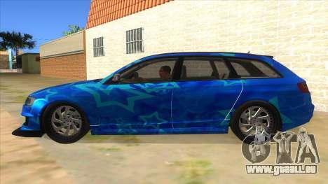 Audi RS6 Blue Star Badgged pour GTA San Andreas laissé vue