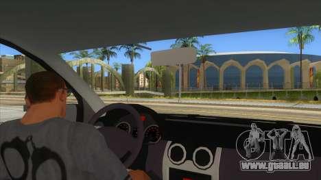 Dacia Logan Romania Police pour GTA San Andreas vue intérieure