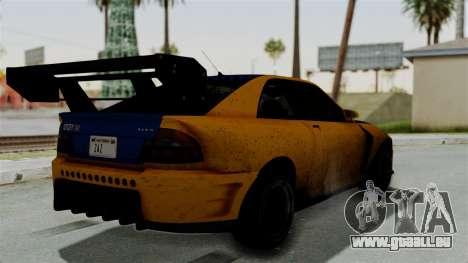 GTA 5 Karin Sultan RS Drift Big Spoiler für GTA San Andreas linke Ansicht