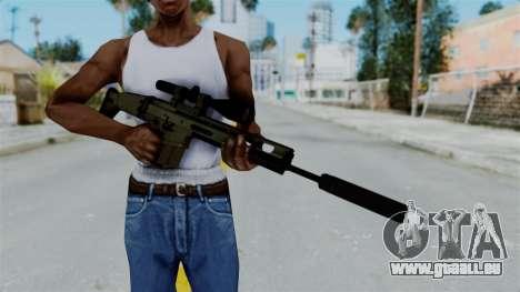 SCAR-20 v1 Supressor pour GTA San Andreas troisième écran