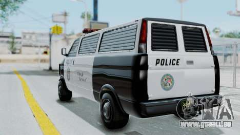 GTA 5 Declasse Burrito Police Transport IVF für GTA San Andreas linke Ansicht