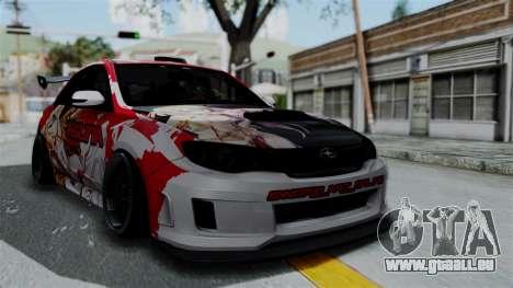 Subaru Impreza WRX STI 2010 Itasha Asuna (SAO) pour GTA San Andreas