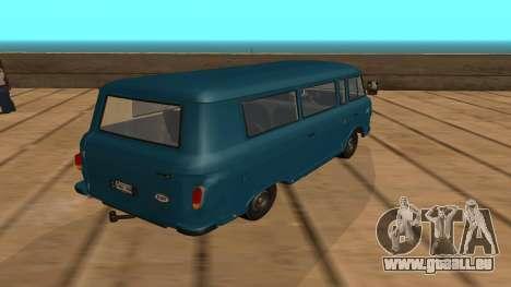 Barkas B1000 pour GTA San Andreas sur la vue arrière gauche