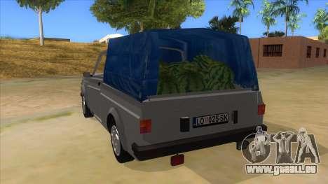 Zastava Poly 1.3 pour GTA San Andreas sur la vue arrière gauche