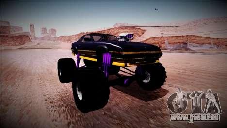 GTA 5 Imponte Ruiner Monster Truck für GTA San Andreas rechten Ansicht