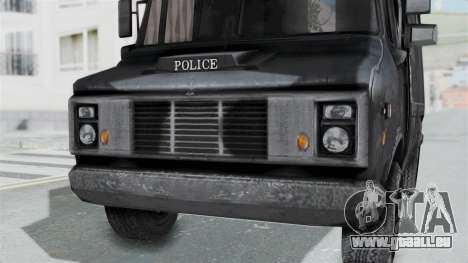 Le fourgon de la police de RE Outbreak pour GTA San Andreas vue de droite
