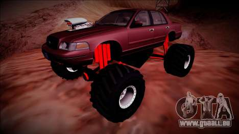 2003 Ford Crown Victoria Monster Truck für GTA San Andreas obere Ansicht