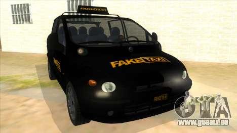 Fiat Multipla FAKETAXI für GTA San Andreas Rückansicht