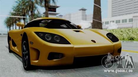 Koenigsegg CCXR 2013 pour GTA San Andreas sur la vue arrière gauche