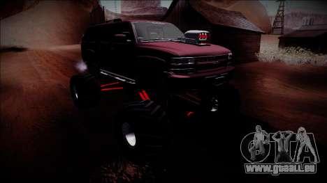 2003 Chevrolet Suburban Monster Truck für GTA San Andreas Seitenansicht