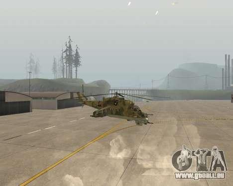 Un Mi-24 Au Crocodile pour GTA San Andreas vue de droite