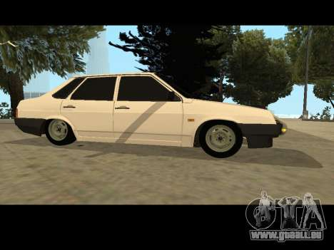 VAZ 21099 Voiture Sans épuisette pour GTA San Andreas laissé vue