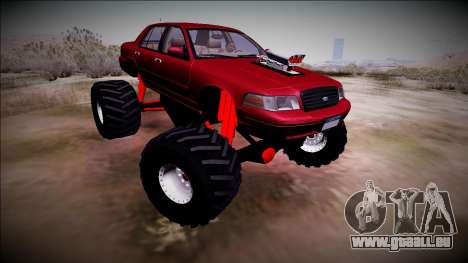 2003 Ford Crown Victoria Monster Truck für GTA San Andreas Rückansicht