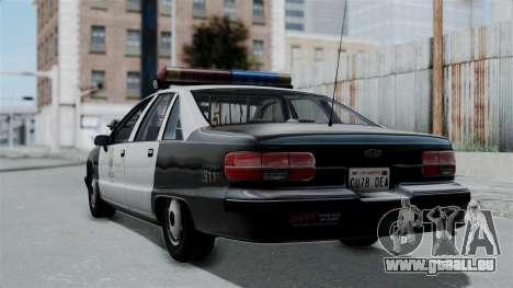 Chevrolet Caprice 1991 CRASH Division für GTA San Andreas linke Ansicht