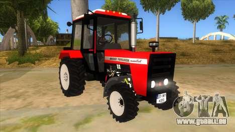 Massley Ferguson Tractor pour GTA San Andreas vue arrière