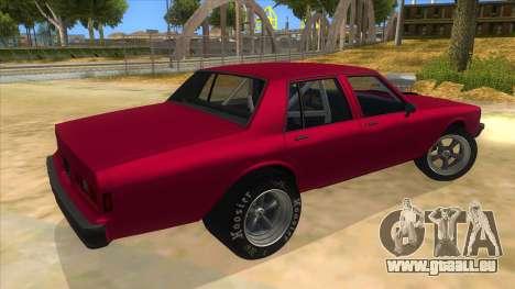 1984 Chevrolet Impala Drag für GTA San Andreas rechten Ansicht