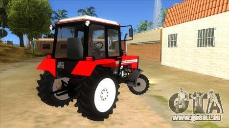Massley Ferguson Tractor pour GTA San Andreas vue de droite