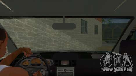 Nissan X-Trail 4x4 Dirty by Greedy pour GTA San Andreas vue intérieure